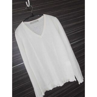 イエナ(IENA)の極美品イエナIENAカシミヤ100%裾フリルニット白アイボリー(ニット/セーター)