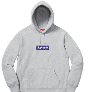 Supreme - Supreme Bandana box logo grey S