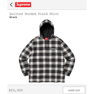 Supreme - 19AW Quilted Hooded Plaid Shirt 【L】