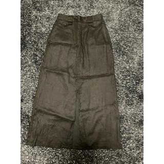 スライ(SLY)のSLY 前スリット スカート 黒色(ひざ丈スカート)