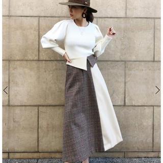 エイミーイストワール(eimy istoire)のレトロレザーコンビスカート MIX(ロングスカート)