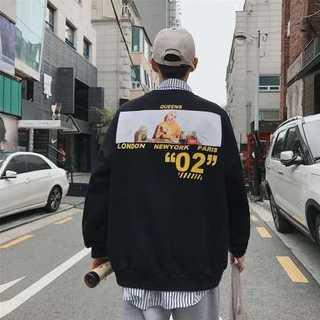 韓国ストリート バックガール オーバーサイズ パーカー トレーナー ブラック(スウェット)