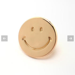 DEUXIEME CLASSE - Deuxieme Classe SMILEY FACE ピンバッジ GOLD