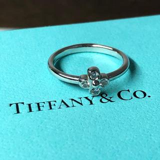 Tiffany & Co. - Tiffany&Co. ダイヤモンド フラワーモチーフのプラチナリング