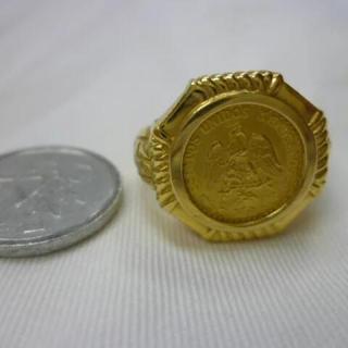 K18 ペソコイン リング 指輪 7.5g(リング(指輪))