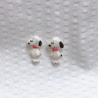 スヌーピー(SNOOPY)の3Dネイルパーツ♡2点セット(デコパーツ)