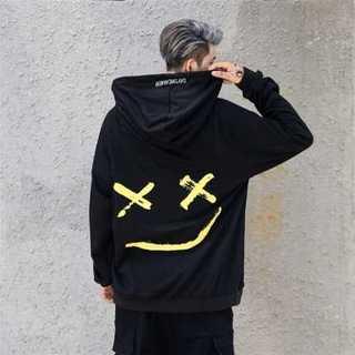 (L・XL) オーバーサイズ ビッグシルエット パーカー ニコちゃん 裏起毛(パーカー)