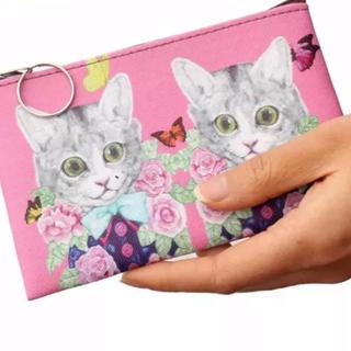 ポール&ジョーシスター(PAUL & JOE SISTER)の猫ポーチ コインケース ピンク 新品未使用(ポーチ)