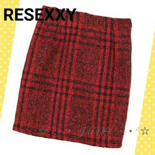 リゼクシー(RESEXXY)のチェックタイトSK♡RESEXXY リゼクシー 新品 タグ付き(ミニスカート)