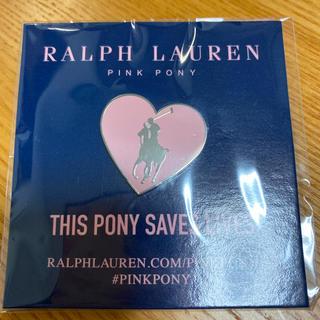 ポロラルフローレン(POLO RALPH LAUREN)の【非売品】ラルフローレン ピンクポニー ピンバッジ(ノベルティグッズ)