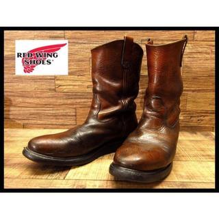 レッドウィング(REDWING)の希少 90s レッドウィング 縦刺繍羽タグ ペコス レザー ブーツ 27cm(ブーツ)