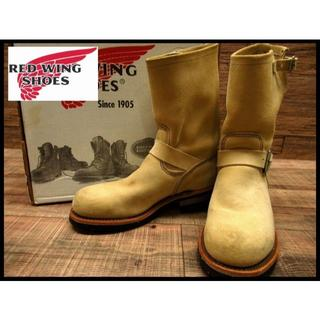 レッドウィング(REDWING)の美品 レッドウイング 8268 スエード レザー エンジニア ブーツ 25cm(ブーツ)