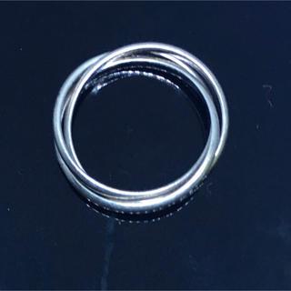 三連 ピンキー シルバー925 リング  4号 トリニティ ギフト レディース銀(リング(指輪))