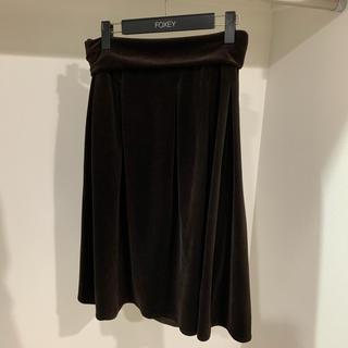 フォクシー(FOXEY)のフォクシー ベロアスカート(ひざ丈スカート)