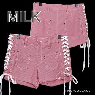 ミルク(MILK)のMILK サイドレースアップショートパンツ(ショートパンツ)