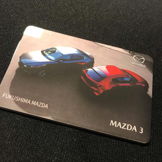 マツダ(マツダ)のFukushima Mazda Mazda3モバイルバッテリー 非売品(ノベルティグッズ)