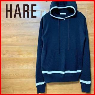 ハレ(HARE)のHARE フーディーセーター プルオーバー  ニットパーカー Mサイズ(ニット/セーター)