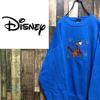 ディズニー(Disney)の【激レア】ディズニー☆USA製くまのプーさんティガーキャラ刺繍スウェット 90s(スウェット)