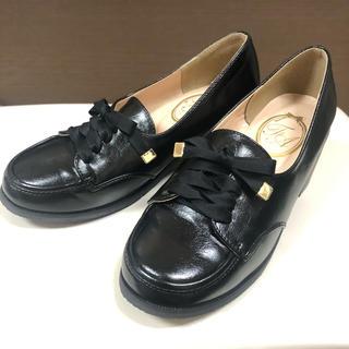 フィント(F i.n.t)のFi.n.t フロントレースアップローファー 黒 S(ローファー/革靴)