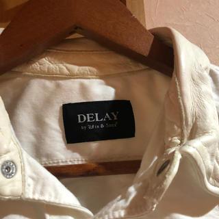 ウィンアンドサンズ(Win&Sons)のDELAY by wfin & sons 襟レザー ホワイトシャツ(シャツ)