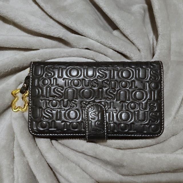【TOUS(トウス)】 牛革 財布 黒×ゴールド ラウンドファスナーの通販 by ワンスター's shop