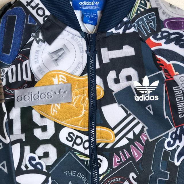 新品 adidas アディダス ブルゾン ジャケット 総柄 マルチカラー
