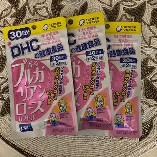 ディーエイチシー(DHC)のDHC 香るブルガリアンローズカプセル30日分×3袋(口臭防止/エチケット用品)