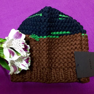 プラダ(PRADA)のPRADA  ニット帽 新品 (ニット帽/ビーニー)