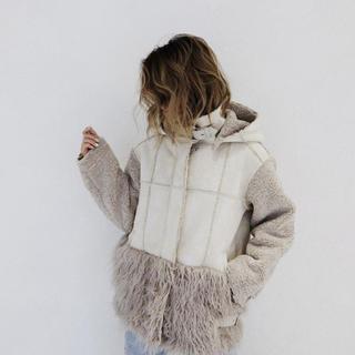 アリシアスタン(ALEXIA STAM)の【新品未使用】Boa Fleece Hooded Flight Jacket (毛皮/ファーコート)