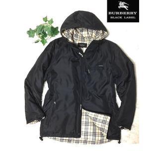 BURBERRY BLACK LABEL - 値下げ 超美品 バーバリー ブラックレーベル コート 高級ダウン  黒 M
