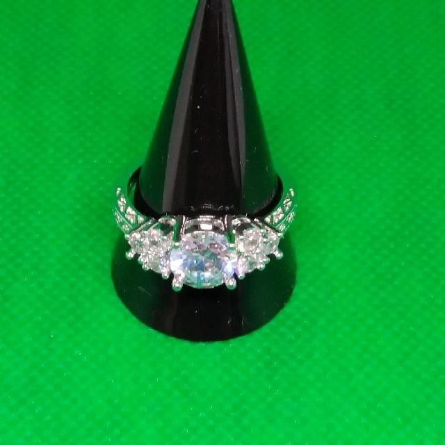ダイヤモンド ホワイト サファイアリング 22号 レディースのアクセサリー(リング(指輪))の商品写真