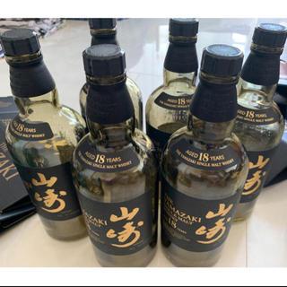 サントリー(サントリー)の山崎 18年 空箱&空瓶 6本セット(ウイスキー)