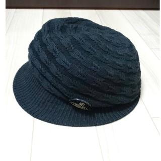 ヴィヴィアンウエストウッド(Vivienne Westwood)のヴィヴィアン 帽子 キャスケット ハット 黒色(キャスケット)