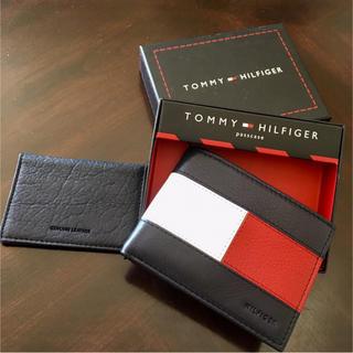 トミーヒルフィガー(TOMMY HILFIGER)の超レア品★Tommy Hilfiger大人気のビッグロゴ二つ折りレザーウォレット(折り財布)