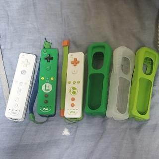 ウィー(Wii)のwiiリモコンプラス ヨッシー ルイージ 白 動作確認済 値下げバラ売り不可 (家庭用ゲーム機本体)