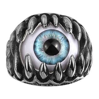 ブルー 義眼 モンスターアイ リング(リング(指輪))