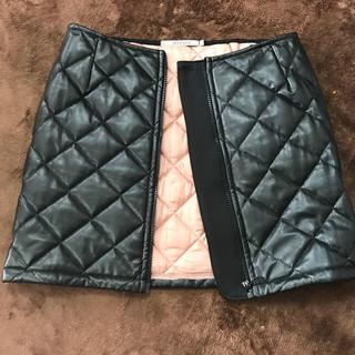 アウラアイラ(AULA AILA)のキルティングミニスカート サイズ1 Sサイズ AULAAILA(ミニスカート)