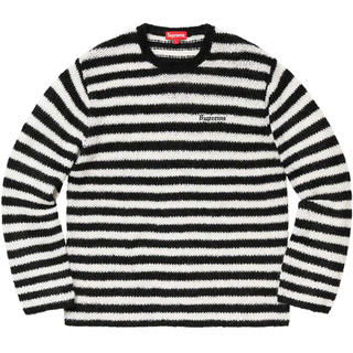 シュプリーム(Supreme)の黒 M 19AW Supreme Stripe Mohair Sweater(ニット/セーター)