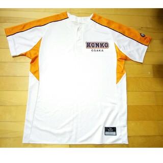 デサント(DESCENTE)の金光大阪高校(大阪)  ベースボールTシャツ 高校野球 オレンジ ユニフォーム(ウェア)