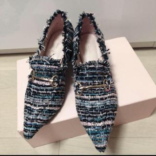 エイミーイストワール(eimy istoire)のeimy ツイードローファー(ローファー/革靴)
