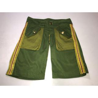 スライ(SLY)のa2◆SLY スライ◆パンツ ズボン ショートパンツ XSサイズ 深緑系グリーン(ショートパンツ)