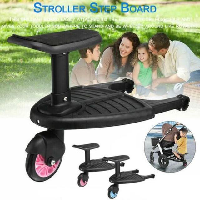 ベビーカー取り付け式 ステップボード キッズ/ベビー/マタニティの外出/移動用品(簡易バギー)の商品写真