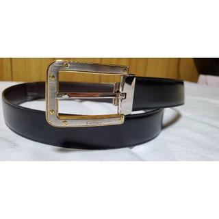 カルティエ(Cartier)の正規 カルティエ サントス クラシックバックル リバーシブルベルト黒×茶 調節可(ベルト)