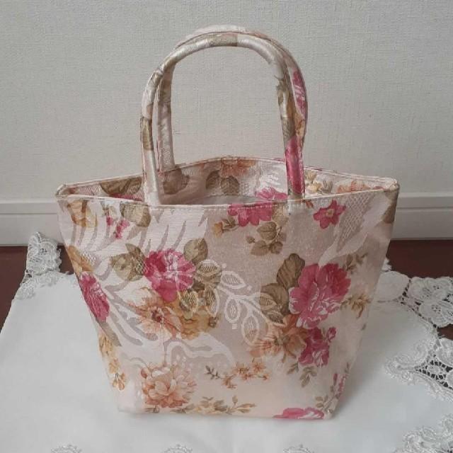 可愛い薔薇柄トートバッグ レディースのバッグ(トートバッグ)の商品写真