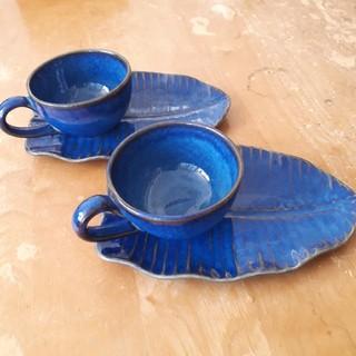 ジェンガラ(Jenggala)のジェンガラ★カップ&ソーサー(デザート皿)2客(食器)