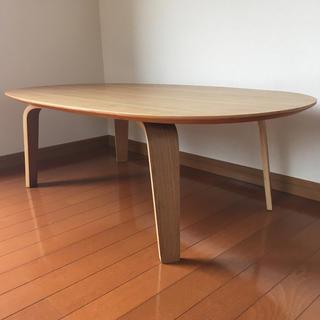 ムジルシリョウヒン(MUJI (無印良品))のMUJI タモ材 リビングテーブル(ローテーブル)