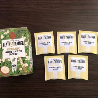 ヒース&ヘザー オーガニック グリーンティーwithココナッツ 5個(茶)