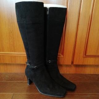 マリーファム(Marie femme)の黒スウェード ロングブーツ(ブーツ)