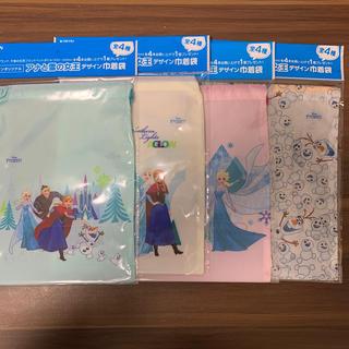 アナトユキノジョオウ(アナと雪の女王)のキリン アナ雪 巾着袋 4枚セット(その他)