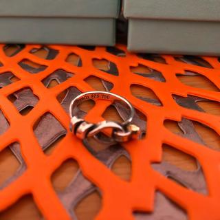 ティファニー(Tiffany & Co.)のティファニー ♥フック&アイ♥18k& Svリング(リング(指輪))